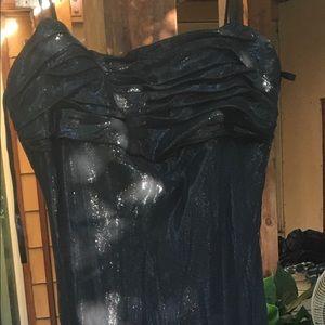 Long black shimmery dress
